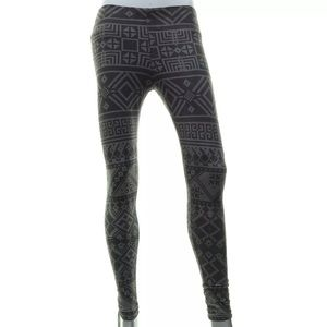 Vigoss Skinny Aztec Stretch Gray Legging  XS S XL